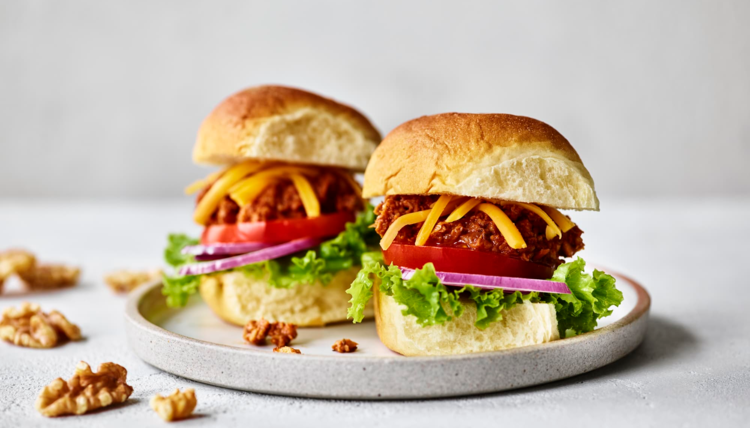 It's Burger Time, Baby - Sloppy Joes aus Walnüssen & Pilzen