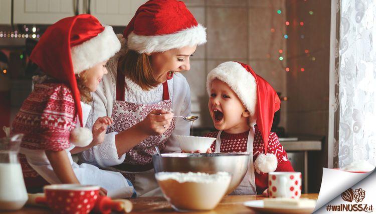 Walnusszeit mit Weihnachtsplätzchen