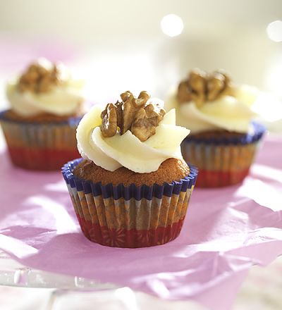 Mini-Bananen-Walnuss-Cupcakes