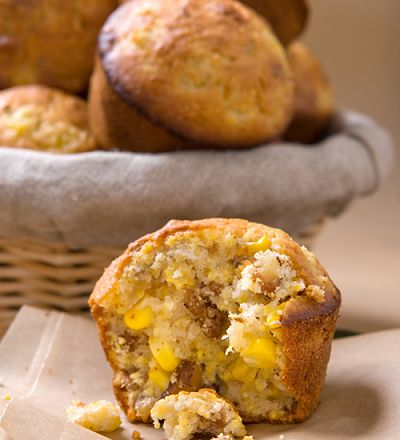 Walnuss-Mais-Muffins